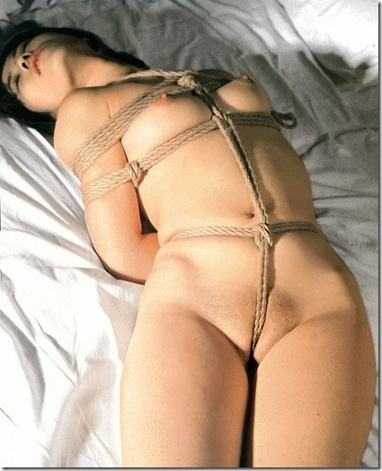 【昭和ロマンSM股縄画像】食い込む股縄の強さが愛の強さ。縄で結ばれた夫婦生活09