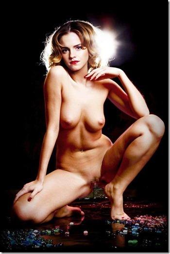 【世界の快道でイク!西欧特別編】無毛の美少女ボディがよく似合うエマ・ワトソンのアイコラエロ動画像33
