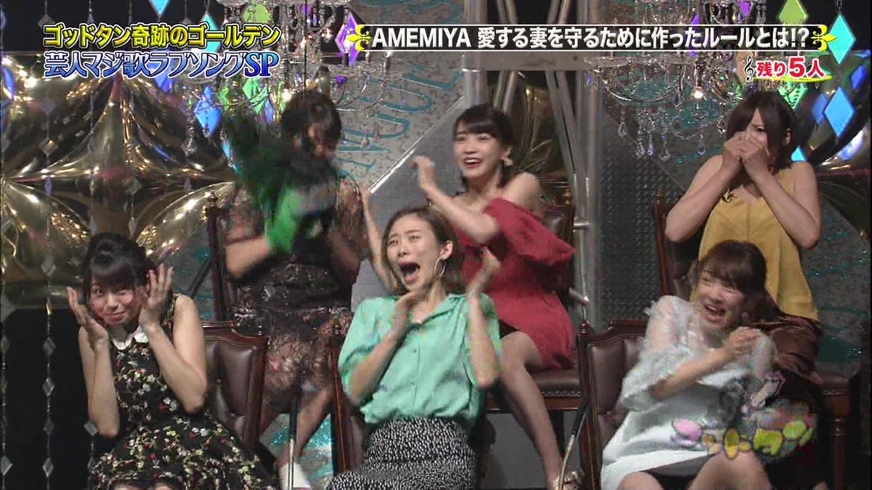 都丸紗也華のテレビに映ったパンツ丸見え・Fカップのミズ着グラビアがえろえろなんだが