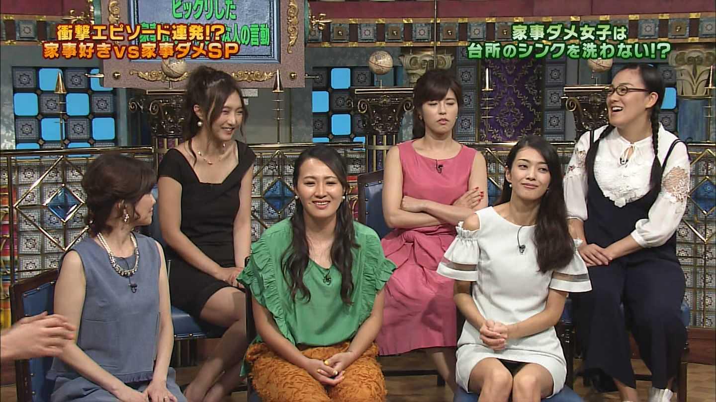 9頭身モデル田中道子のテレビに映ったパンツ丸見え・スタイル抜群のグラビアえろ写真