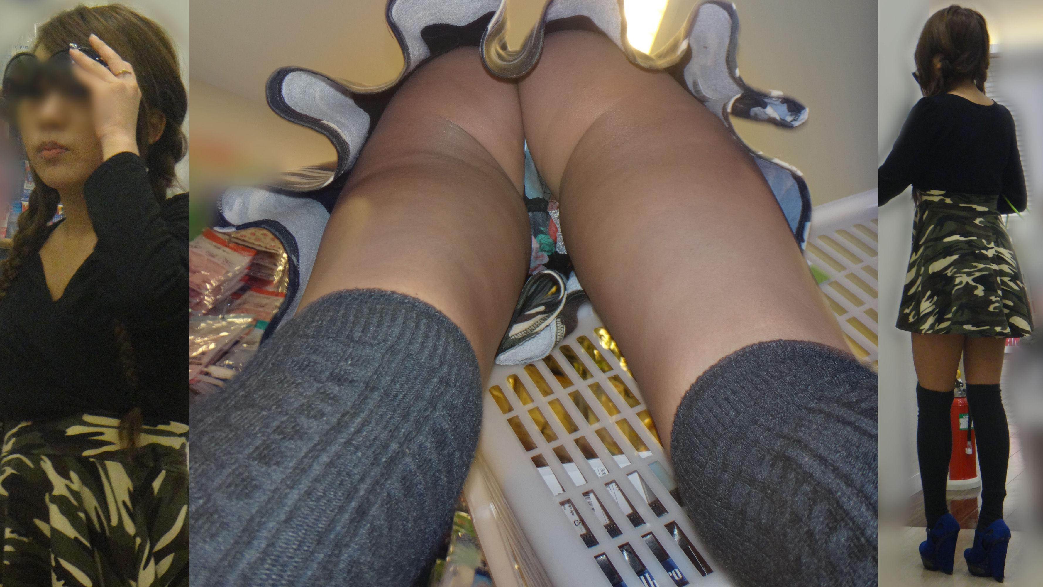 (逆さ撮り)ハミ毛・ハミマンまであるシロウトのTBACK逆さ撮りパンツ丸見え写真