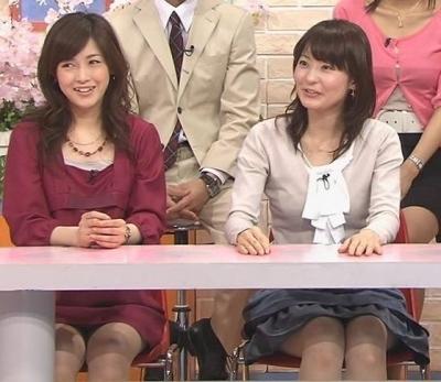 杉崎美香の机の下のミニスカ▼ゾーンモロパンハプニングキャプ