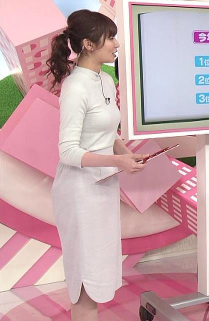 畑下由佳 体のラインがくっきりでたタイトな服キャプ画像(エロ・アイコラ画像)