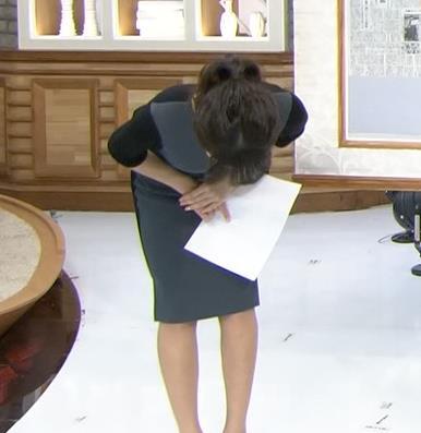 宇垣美里 ポニーテール&横乳キャプ画像(エロ・アイコラ画像)