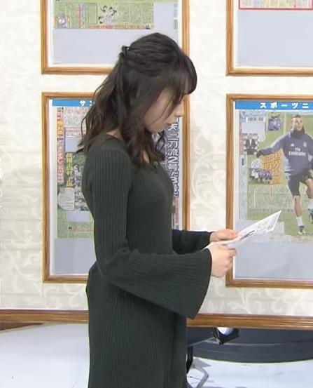 宇垣美里 ニットで胸のふくらみがエロかわいいキャプ画像(エロ・アイコラ画像)