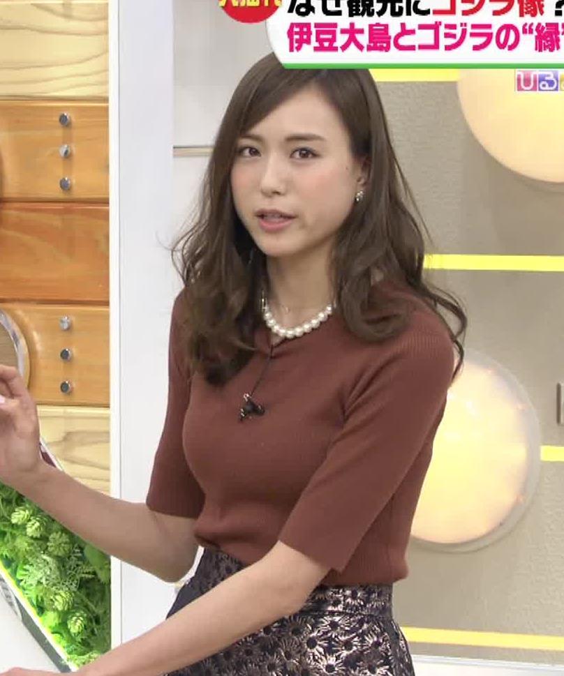 笹川友里 巨乳美人アナの横乳キャプ画像(エロ・アイコラ画像)