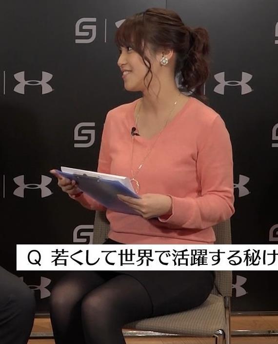 鷲見玲奈 ムチムチ黒ストッキングキャプ画像(エロ・アイコラ画像)