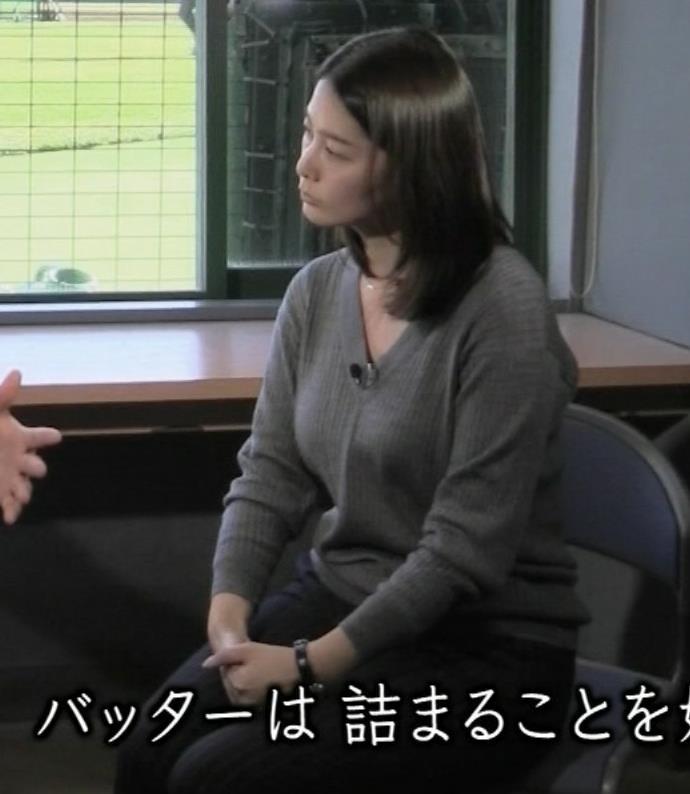 杉浦友紀 巨乳が気になってインタービューどころじゃなさそうキャプ画像(エロ・アイコラ画像)