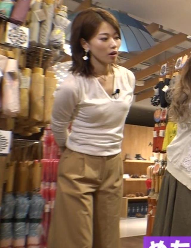 角野友紀 胸のふくらみ 元朝日放送アナウンサーキャプ画像(エロ・アイコラ画像)