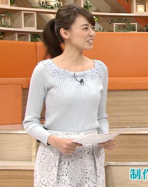 宮澤智 大きくないけどエロかわいいニットおっぱいキャプ画像(エロ・アイコラ画像)