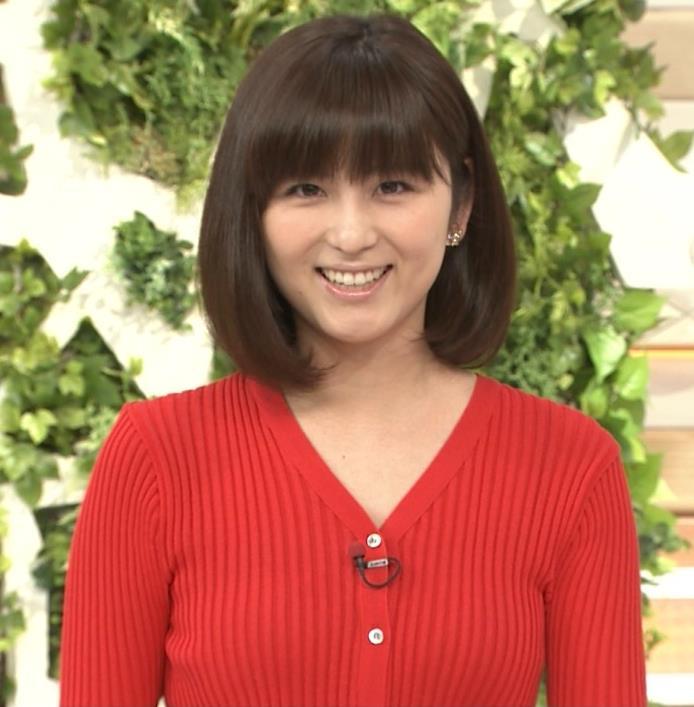 宇賀なつみ ニットおっぱい 「モーニングショー」キャプ画像(エロ・アイコラ画像)