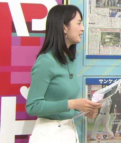 山本恵里伽 ニットおっぱい、エロい横乳。キャプ画像(エロ・アイコラ画像)