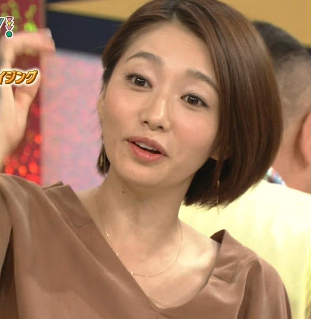 眞鍋かをり NHK『ガッテン!』の実験で胸元チラキャプ画像(エロ・アイコラ画像)