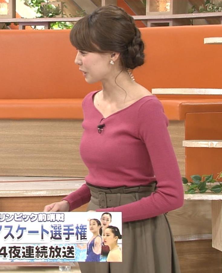 宮澤智 ニットおっぱい強調キャプ画像(エロ・アイコラ画像)