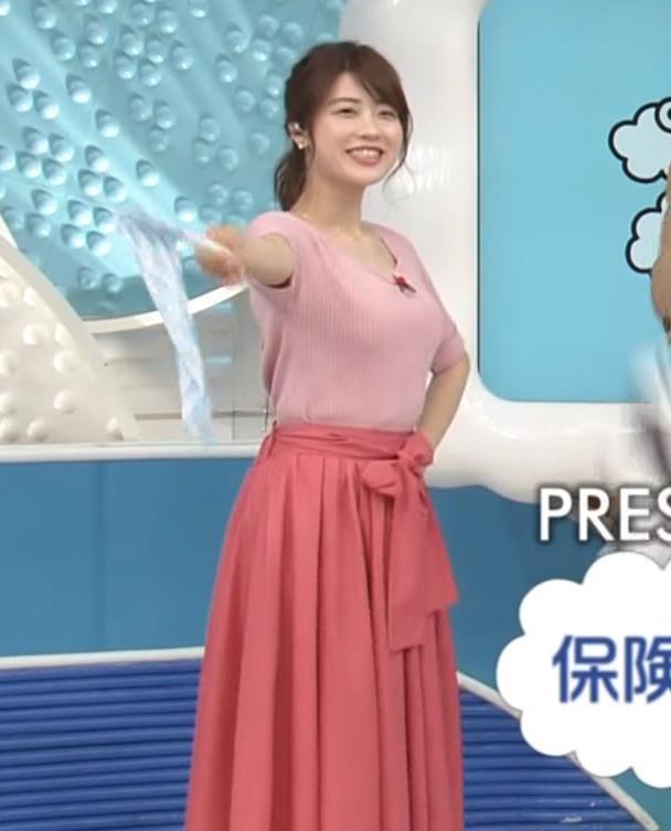 郡司恭子 巨乳が目立つ半袖ニットキャプ画像(エロ・アイコラ画像)