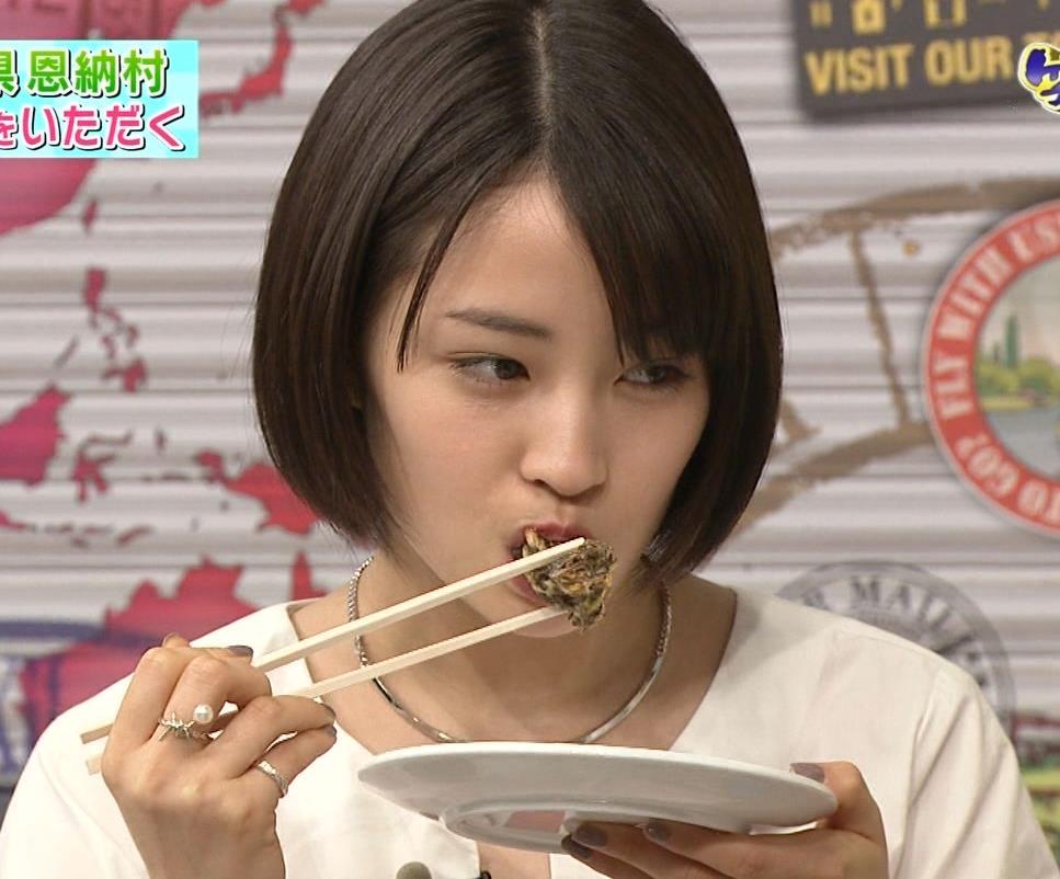 広瀬すず 食べているところキャプ画像(エロ・アイコラ画像)