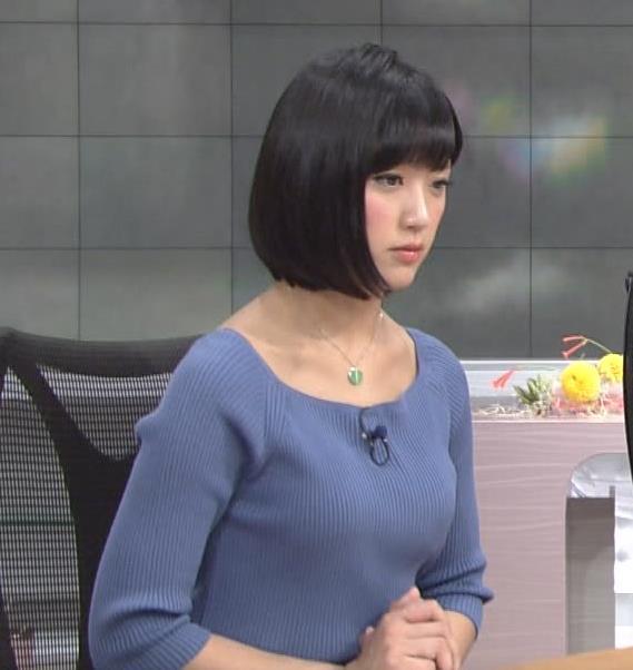 竹内由恵アナ にっとおっぱい!