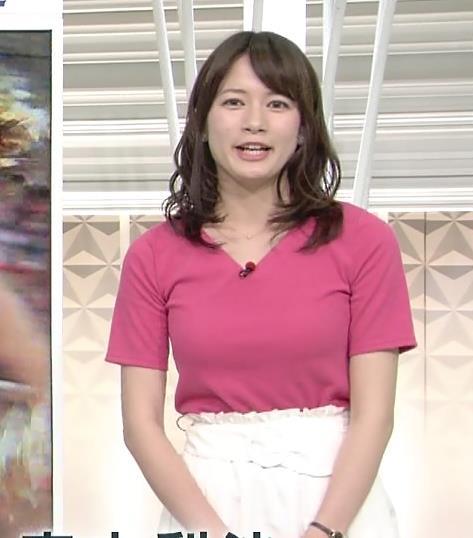 宇内梨沙 巨乳が主張したシャツキャプ画像(エロ・アイコラ画像)