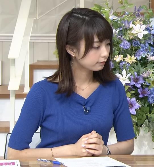 宇垣美里 ニットおっぱいとかわいい表情キャプ画像(エロ・アイコラ画像)