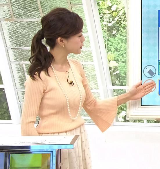 古谷有美 女子アナのニット巨乳キャプ画像(エロ・アイコラ画像)