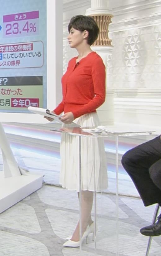 ホラン千秋 巨乳が目立つ赤い衣装キャプ画像(エロ・アイコラ画像)