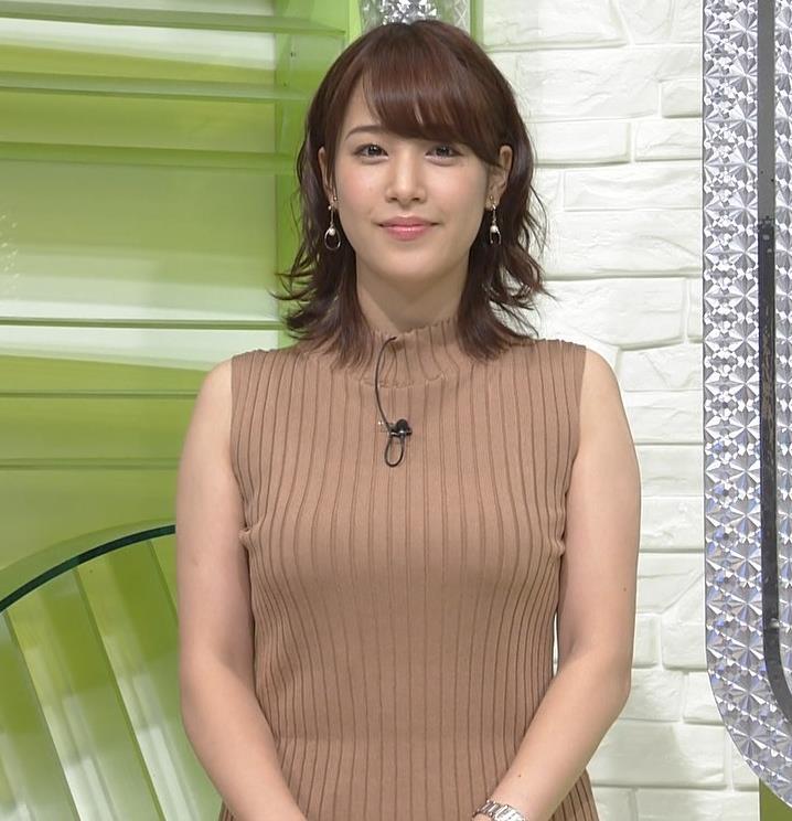 鷲見玲奈アナ ムチムチ、ニットおっぱい!