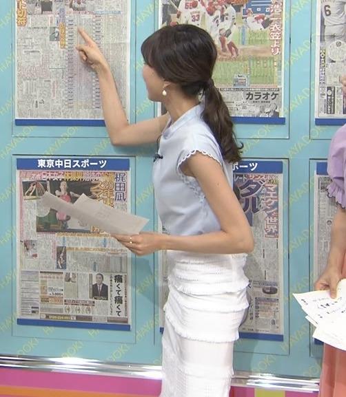 笹川友里 タイトスカートの脚とお尻のラインがエロいキャプ画像(エロ・アイコラ画像)