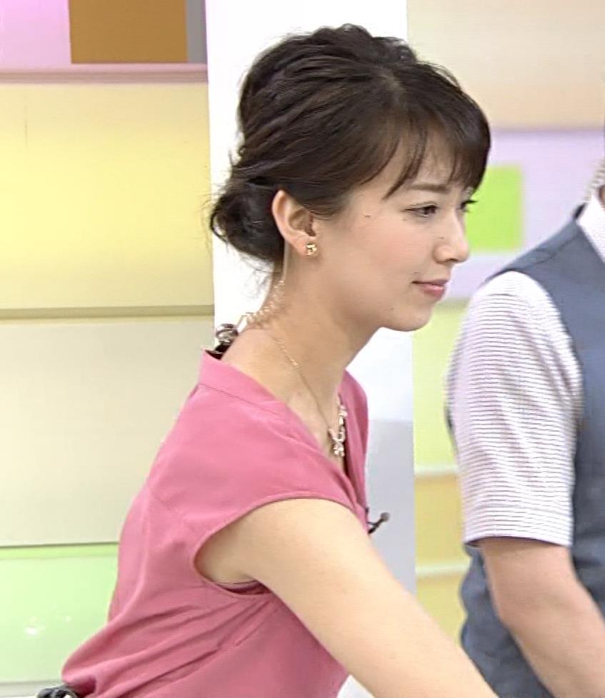 和久田麻由子 ピンクのノースリーブでワキちらキャプ画像(エロ・アイコラ画像)