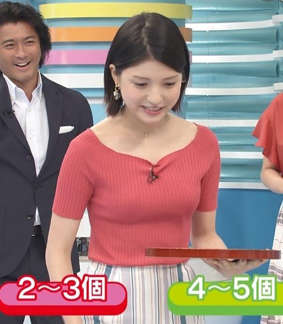 川島海荷 ニットおっぱい!&立ちバック姿キャプ画像(エロ・アイコラ画像)