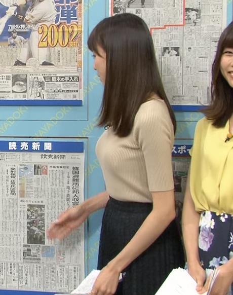 笹川友里 美人アナのニット横乳!でかい。キャプ画像(エロ・アイコラ画像)