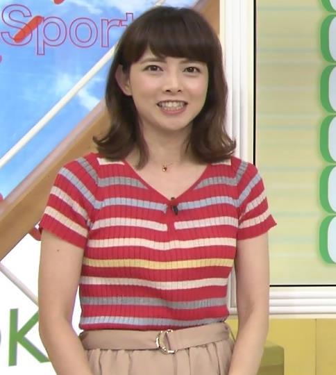 尾崎朋美 横乳画像2
