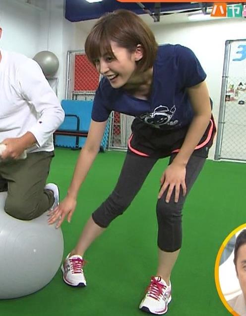 宮司愛海 エクササイズで胸ちらサービスキャプ画像(エロ・アイコラ画像)