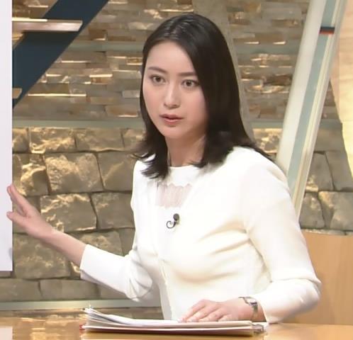小川彩佳アナ おっぱいくっきり