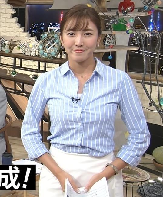 小澤陽子 おっぱいでシャツのボタンがパッツンになっていてエロい画像キャプ画像(エロ・アイコラ画像)