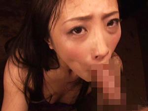 【神納花】チンポ2本からザーメンを搾り出し顔射させ飲精してもフェラチオし続ける舌長痴女!!