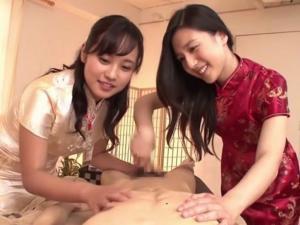 古川いおり 浅野えみ アナル指入れ前立腺マッサージで施術するチャイナドレスの回春エステ嬢たち