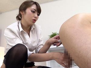 【桜井あゆ】四つん這いで前立腺を責めながらモーモー手コキしてくれるM男専用エステサロン