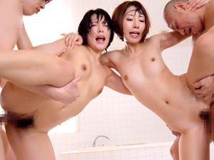 【阿部乃みく×乙葉ななせ】ショートカット美少女2人が乱れ続ける4Pセックス!!