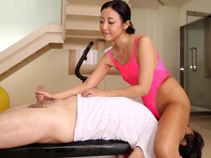 食い込みレオタードパイパン熟女インストラクターが尻コキマンコキと顔面騎乗手コキでチンポ強化トレーニング