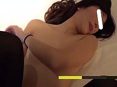 【無】お肌がとってもキレイな美肌美尻の黒ニーソ娘と濃厚ハメ撮り♪||