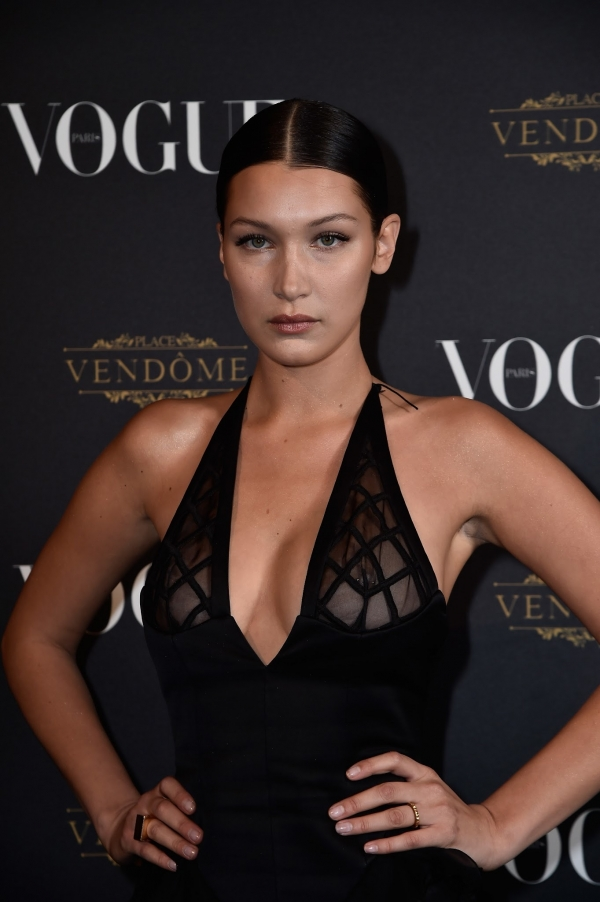 Bella Hadid at Vogue Paris Fashion Week party 2015