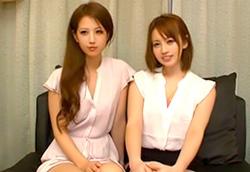 【センズリ鑑賞】左は鬼フェラ、右は巨乳女神。これ以上ない燃える3P1